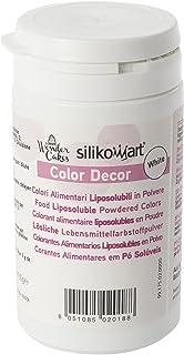 silikomart CLD005 Colorante alimenticio en Polvo liposoluble, Color Blanco 25 gr