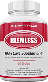 Blemless Clear Skin Supplements Pill- Best Tablets for Oily Skin and a Glowing Complexion | Vitamin Pills for Women & Men ...