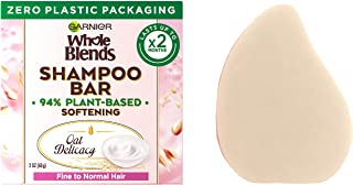 Garnier Whole Blends Oat Delicacy Softening Shampoo Bar for Fine Hair, Zero Plastic Packaging, Preservative/ Silicone/Soap...