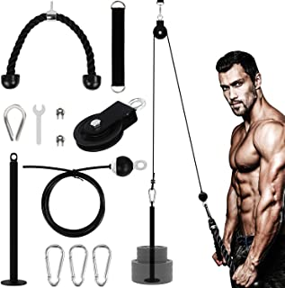 YaNovate Fitness LAT and Lift Pulley System with Loading...
