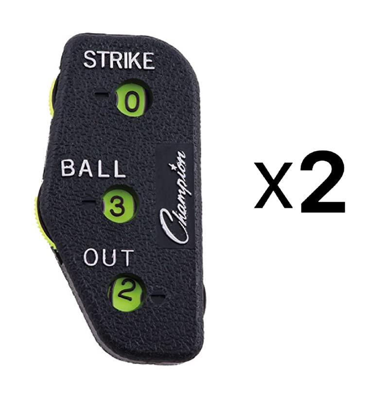 Champion Sports 3 Dial Baseball Softball Umpire Indicator Count Clicker (2-Pack)