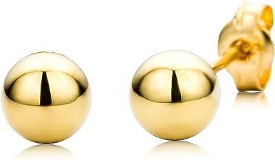 Miore Orecchini da Donna in Oro Giallo 18K (750)