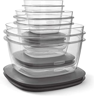 Rubbermaid 12-Piece Premier Flex N Seal Food Storage Container Set with Lids, Microwave Safe