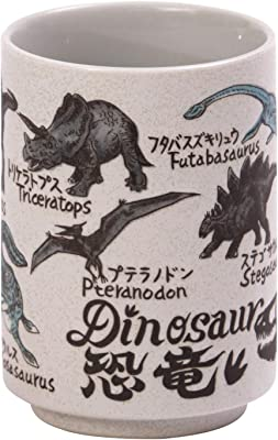 山志製陶所 湯呑 恐竜 280ml 中切立JAPANシリーズ C3-33
