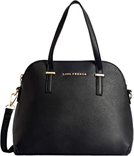Lino Perros Black leatherette Satchel