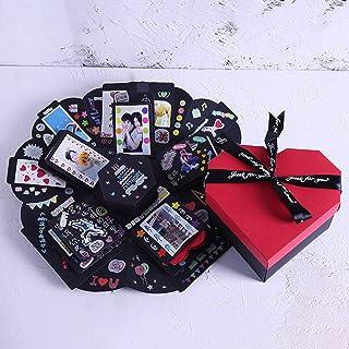 DIY بها بنفسك ألبوم صور انفجار صندوق صندوق تخزين عيد ميلاد عيد الحب اليدوية DIY اكسسوارات عدة صندوق
