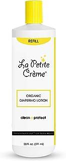 La Petite Creme French Organic Diapering Lotion - Diaper Cream Alternative to Baby Wipes - Gentle Diaper Rash Cream and Sk...