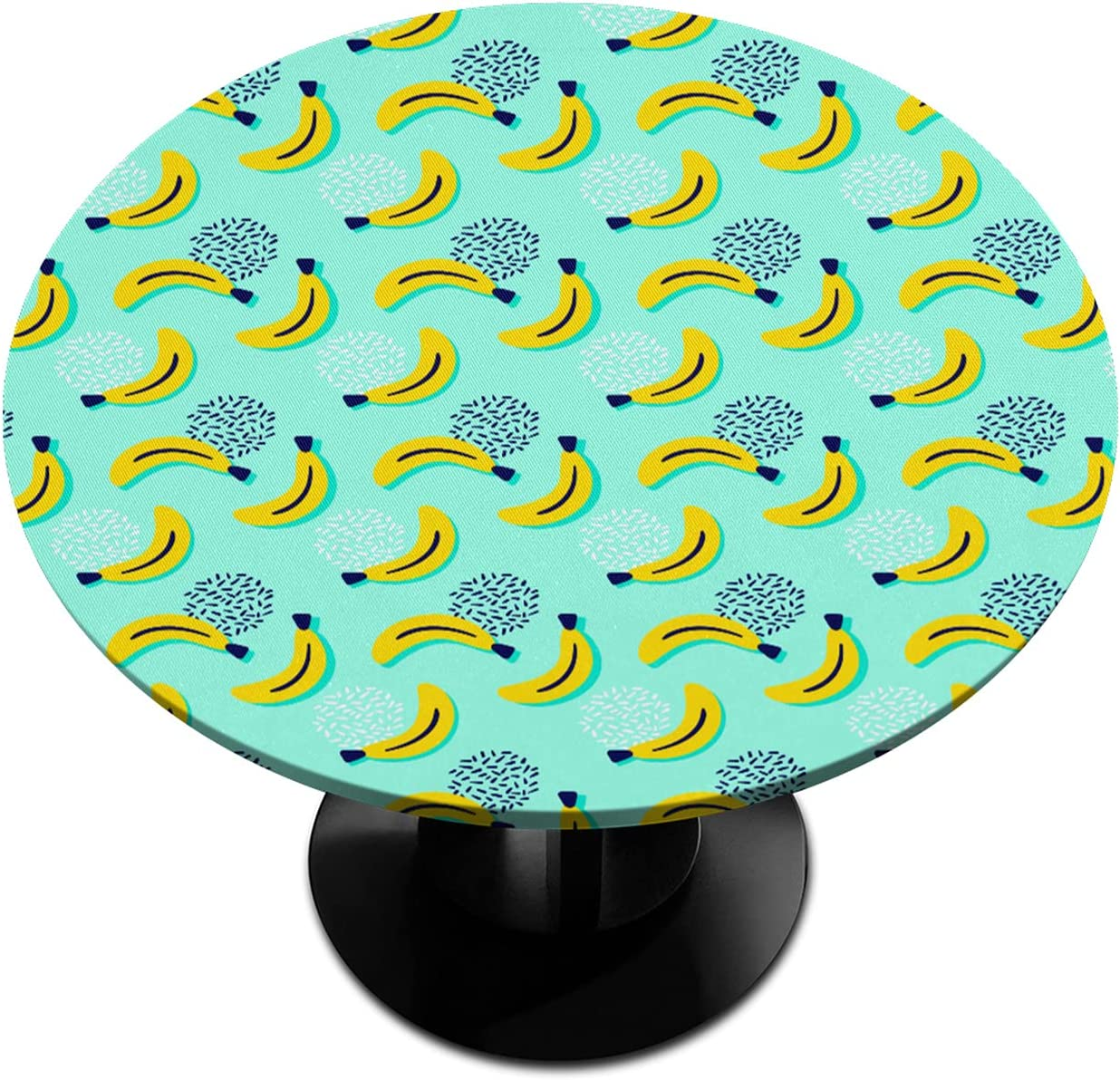 Banana Pattern Home Special Regular discount sale item Round Fitted Tablecloth Elastic with Edged