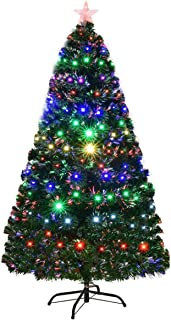 artificial christmas trees pre lit multi colored