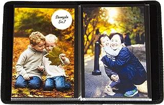 2PO Compact Portfolio Photo Album Holds 48 Pictures - 5x7 Inch/Space Saver Album with Stitched Edges