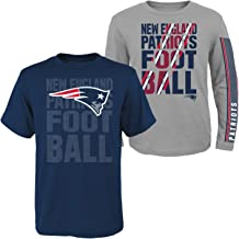 Outerstuff New England Patriots Youth NFL Playmaker 3 in 1 T-Shirt Combo Set