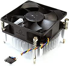 Aquamoon Trading X3JDD Genuine OEM Dell OptiPlex 3020 7020 7010 MT Precision T1650 65W Processor CPU Cooling Heatsink Fan Assembly 3.5 Inch Black 5-pin Header 4-wire Cable Captive Screws 89R8J
