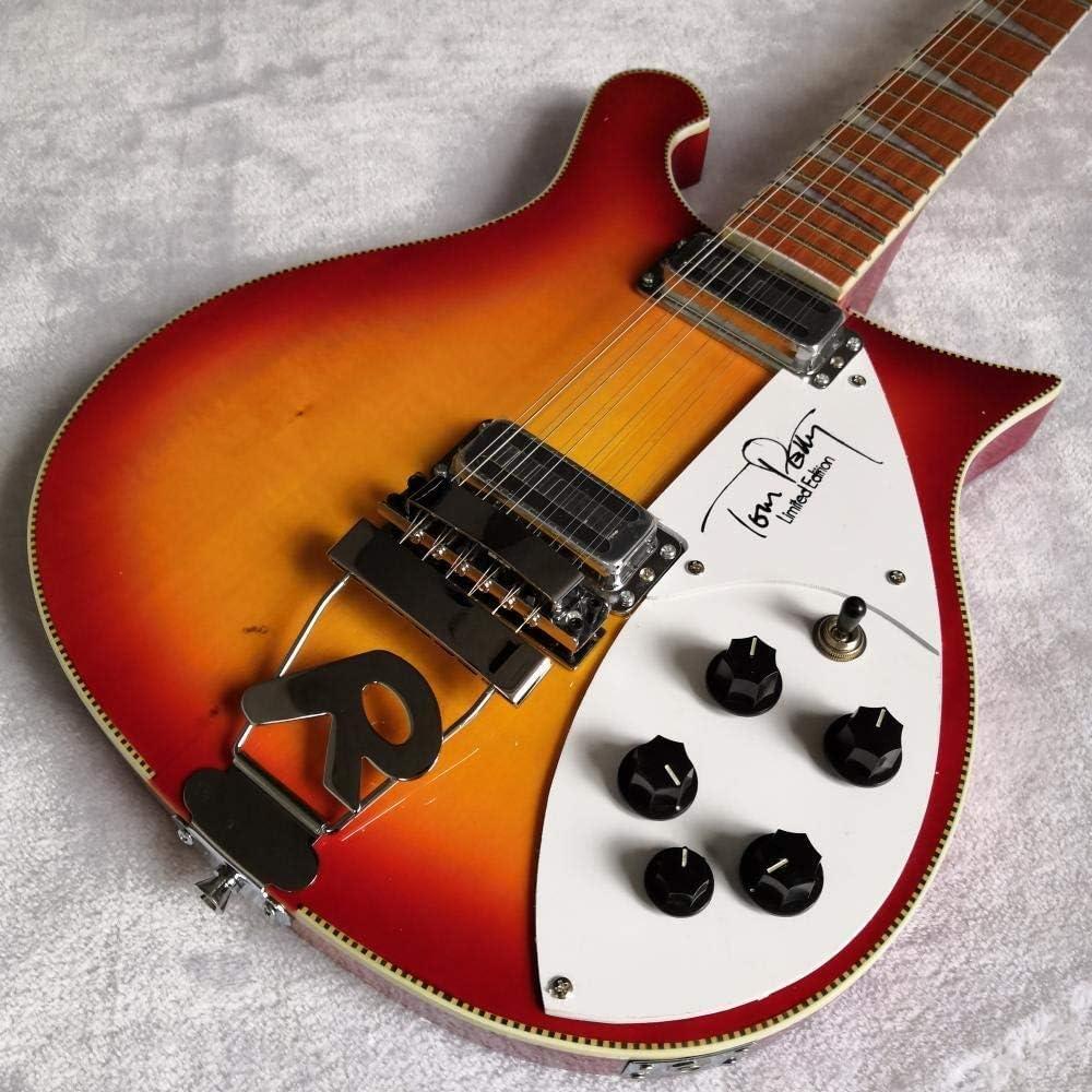 LYNLYN Guitarras Guitarra Eléctrica Guitarra Eléctrica 12 Cuerdas De Cuerda Acústica De Acero Guitarras Guitarra Clásica Guitarra eléctrica (Size : 39 Inches)