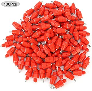 Automatic Poultry Drinking Machine,100PCS Automatic Chicken Water Nipple Drinker Feeders Poultry Nipple Chicken Universal Drinking Cup Hen Duck Goose