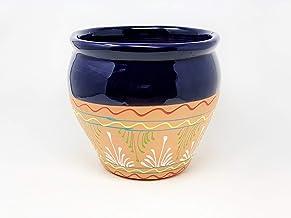 15cm x 11cm Blue Verano Spanish Ceramics Rustic Pastel Hand Dipped Decorative Home D/écor Salt Pig Caddy Spices Condiments Storage Holder Pot in 4 Heritage Pastel Shades