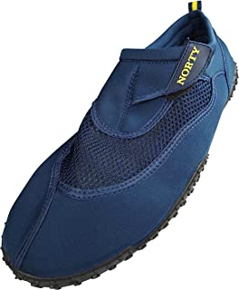 NORTY Mens Big Sizes 13-15 Aqua Sock Wave Water Shoes - Waterproof Slip-Ons for Pool, Beach and Sports