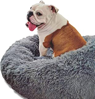 Alpha Paw Cozy Calming Dog Bed - Comfy Anti Anxiety Plush Dog Bed - Dog Beds for Small Dogs, Dog Beds for Medium Dogs, Dog...