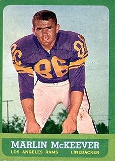 Football NFL 1963 Topps #46 Marlin McKeever EX Excellent LA Rams