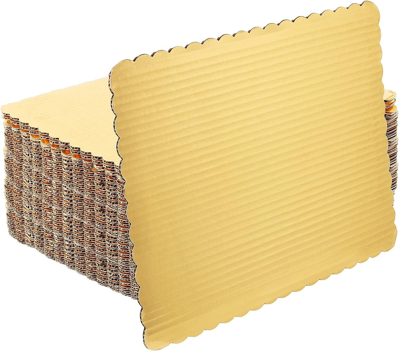 SHEUTSAN 40 Packs Cheap Free shipping 14x10 Inches Rect Corrugated Gold Boards Cake