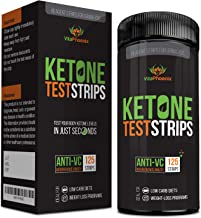 Ketone Strips - Perfect Ketogenic Supplement to Measure Ketones in Urine & Monitor Ketosis for Keto Diet, 125 Urinalysis T...