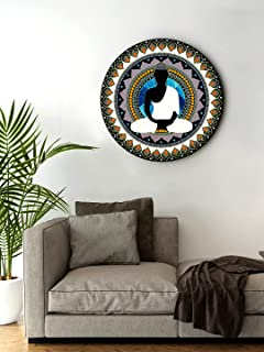 999Store small frames for wall decor room office Meditation Buddha Black And White Color Round Shape wall art painting wal...