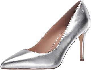 حذاء بكعب متوسط للنساء من Charles David ، فضي، 6 متوسط US