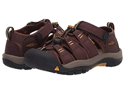 Keen Kids Newport H2 (Little Kid/Big Kid) (Coffee Bean/Bison) Kids Shoes