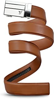 Mission Belt Men's Leather Ratchet Belt, 3Bar Collection
