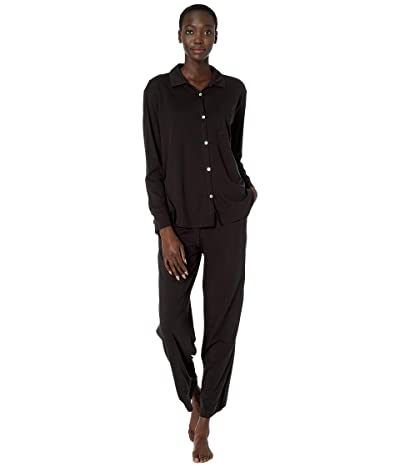 Skin Organic Pima Cotton PJ Set (Black) Women