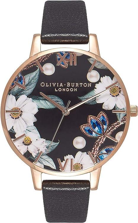 Olivia Burton Reloj Analógico para Mujer de Cuarzo japonés con Correa en Cuero OB16BF04