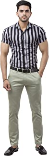 Pouxa Casual Men chino's (34) Olive Green