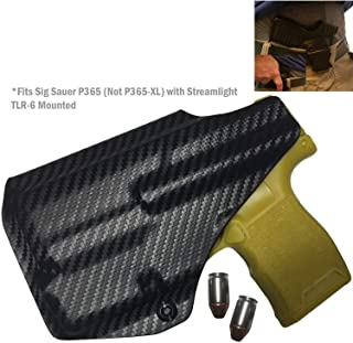 Elite Force Holsters: fits Sig Sauer P365 with Streamlight TLR-6 IWB, Audible Click - Carbon Fiber, Right Hand