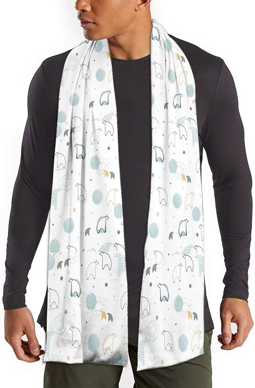 Womens Winter Scarf Kawaii Polar Bear Save Wraps Warm Pashmina Shawls Gift Reversible Soft For Girls
