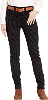 Womens High-Rise Skinny Jeans in Black WHS8717
