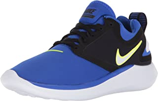 NIKE Boy's Lunarsolo (GS) Running Shoes (6 M US Big Kid, Racer Blue/Black/Buff Gold/White)