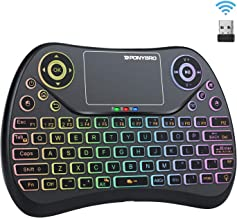 (Newest Version) PONYBRO Backlit Mini Wireless Keyboard with Touchpad Mouse Combo QWERTY Keypad,Rechargeable Handheld Keyb...