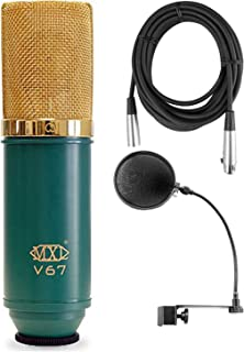 MXL-V67G Large Diaphram Condensor Microphone w/Mic Cable and Pop Filter