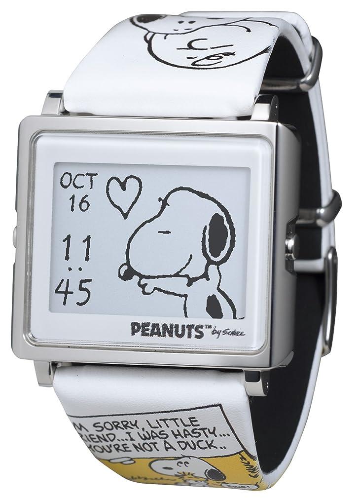 メンタリティ乳例示する[エプソン スマートキャンバス]EPSON smart canvas PEANUTS/BEAGLE HUG スヌーピーとチャーリー?ブラウン 腕時計 W1-PN10110