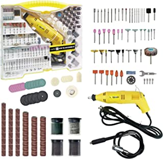 Longmate Rotary Tool Kit with Flex Shaft, 254 Piece Accessories and Carrying Case - Multi-functional for Around-the-House and Crafting Projects, Gift for Men, Father, Boyfriend