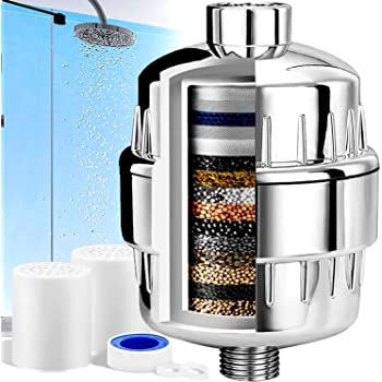 Filtro de Ducha,15 Etapas Universal Filtro Purificador de Agua Ducha,Filtro para Ducha Alta Presion