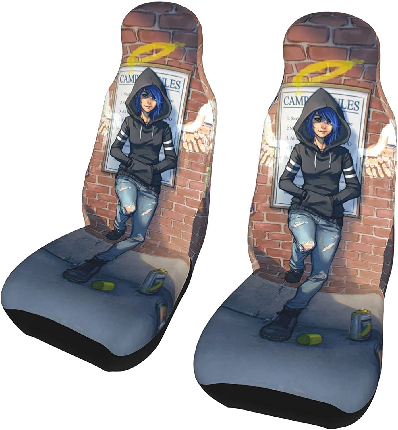 PictetW Angel Max 52% OFF Girl Ripped Jeans Car San Diego Mall Seat Universal Cozy Ca Cover