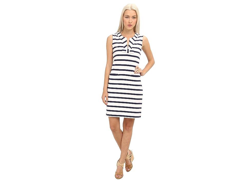 Kate Spade New York Tropez Dress (Fresh White/French Navy) Women