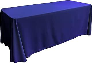 LA Linen Polyester Poplin Rectangular Tablecloth, 90