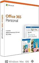 Microsoft Office 365 Personal | utilizzabile da 1 persona su un numero illimitato di dispositivi| 1 abbonamento annuale | si installa su PC/Mac/iOS/Android  | scatola