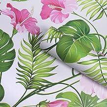 Papel pintado de contacto autoadhesivo con un diseño floral de estilo vintage para forrar cajones, para armarios, para estantes, para decorar la pared o para hacer manualidades, de 45 cm x 200 cm