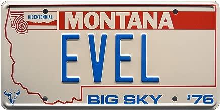 Celebrity Machines Viva Knievel | '76 EVEL | Metal Stamped License Plate
