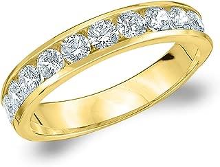 14K Yellow Gold Diamond Channel Set Wedding Band (1.0 cttw, F-G Color, VS1-VS2 Clarity)