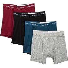 978e249e56 Calvin Klein Men`s Cotton Boxer Briefs 4 Pack (Grey  Heather(NP2247-908) Bardo