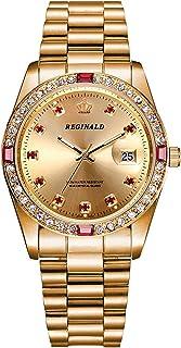 Luxury Unisex Watches Diamond Gold Watches Quartz Calendar Luminous Bezel Luxury Watch