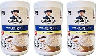 Quaker Avena Instantanea Instant Oats Vanilla, (3 Pack, Total of 34.8 oz)